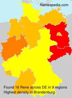 Surname Rene in Germany