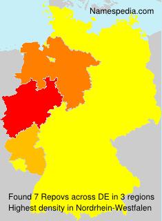 Familiennamen Repovs - Germany