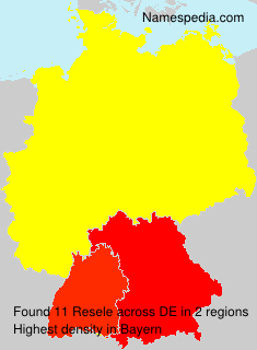 Surname Resele in Germany