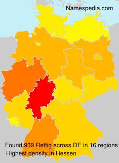 Familiennamen Rettig - Germany