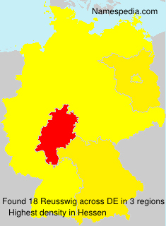 Surname Reusswig in Germany
