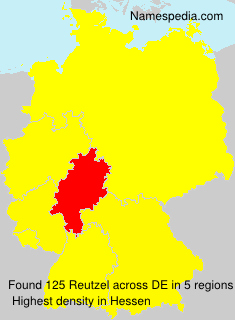 Surname Reutzel in Germany