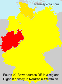 Surname Rewer in Germany