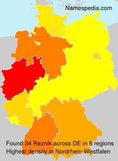 Familiennamen Reznik - Germany