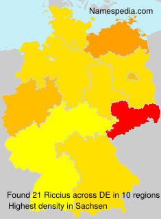 Surname Riccius in Germany