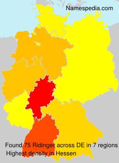 Surname Ridinger in Germany