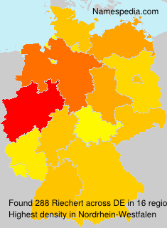 Surname Riechert in Germany