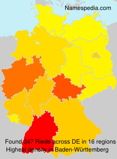 Surname Riede in Germany