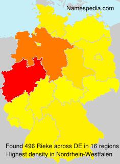 Familiennamen Rieke - Germany