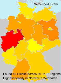 Surname Rieske in Germany