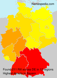Surname Rill in Germany