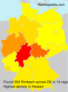 Surname Rimbach in Germany