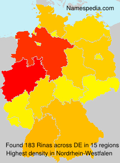 Surname Rinas in Germany