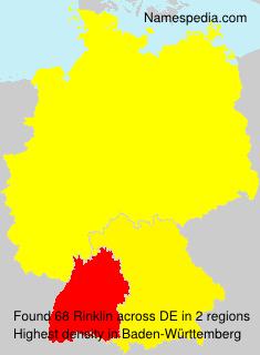 Familiennamen Rinklin - Germany