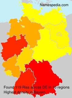 Surname Riss in Germany