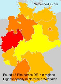 Surname Rita in Germany