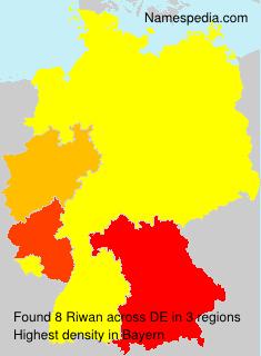 Surname Riwan in Germany