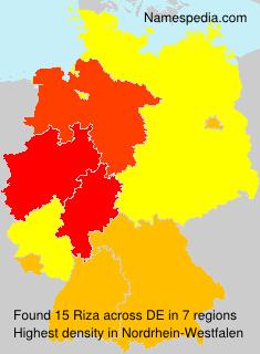Surname Riza in Germany