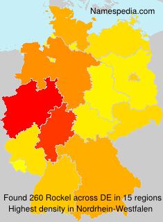 Surname Rockel in Germany