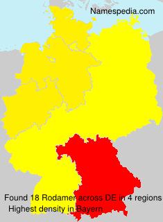 Surname Rodamer in Germany