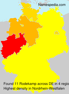 Surname Rodekamp in Germany