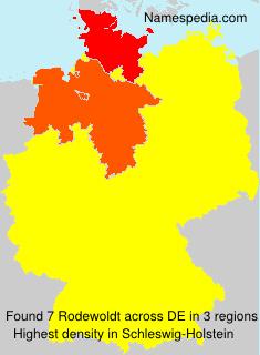 Surname Rodewoldt in Germany