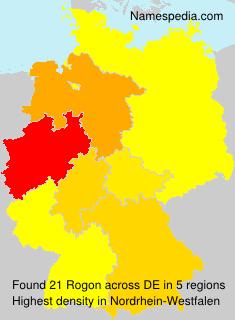 Surname Rogon in Germany