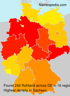 Surname Rohland in Germany