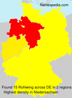 Surname Rohlwing in Germany