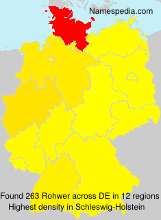 Surname Rohwer in Germany