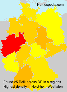Surname Roik in Germany