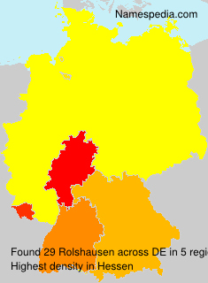 Surname Rolshausen in Germany