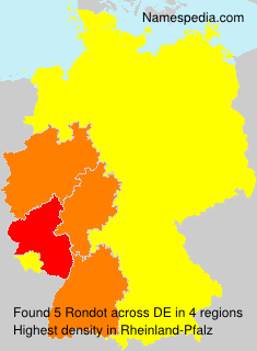 Surname Rondot in Germany