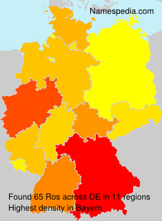 Surname Ros in Germany