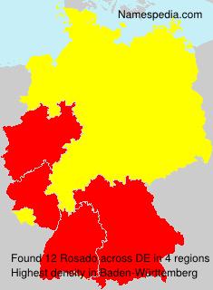 Surname Rosado in Germany