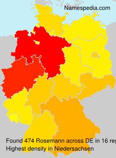 Surname Rosemann in Germany