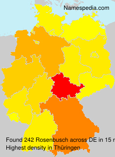 Surname Rosenbusch in Germany