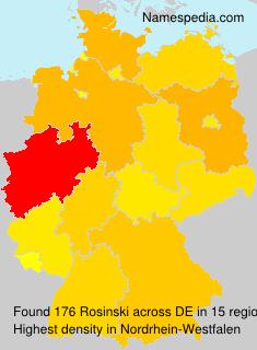 Surname Rosinski in Germany