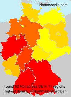 Familiennamen Rot - Germany