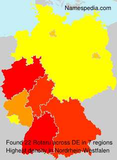 Familiennamen Rotaru - Germany