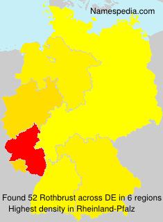Familiennamen Rothbrust - Germany