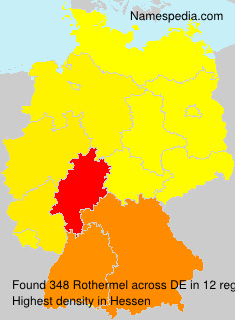 Surname Rothermel in Germany