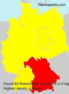 Familiennamen Rottenkolber - Germany