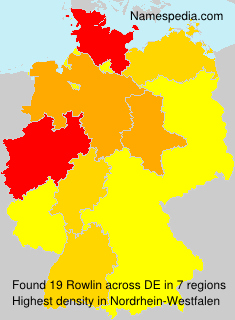 Surname Rowlin in Germany