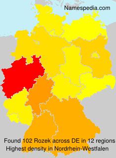 Familiennamen Rozek - Germany