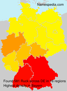 Surname Ruck in Germany