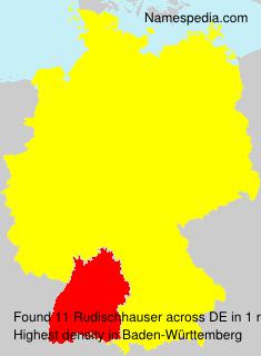 Familiennamen Rudischhauser - Germany
