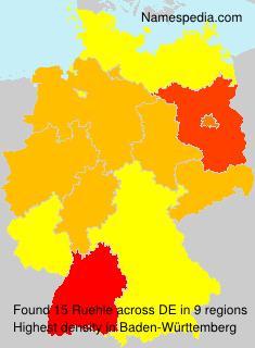 Surname Ruehle in Germany