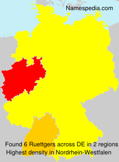 Surname Ruettgers in Germany