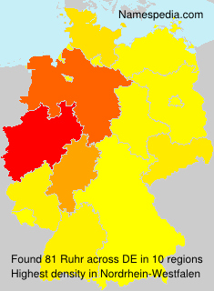 Surname Ruhr in Germany
